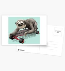 SLOTH ON SKATEBOARD Postcards