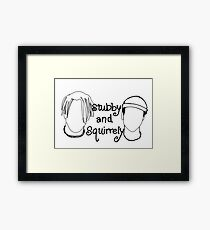 Stubby and Squirrley Outline Framed Print