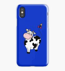 Cute smile cartoon cow iPhone Case/Skin