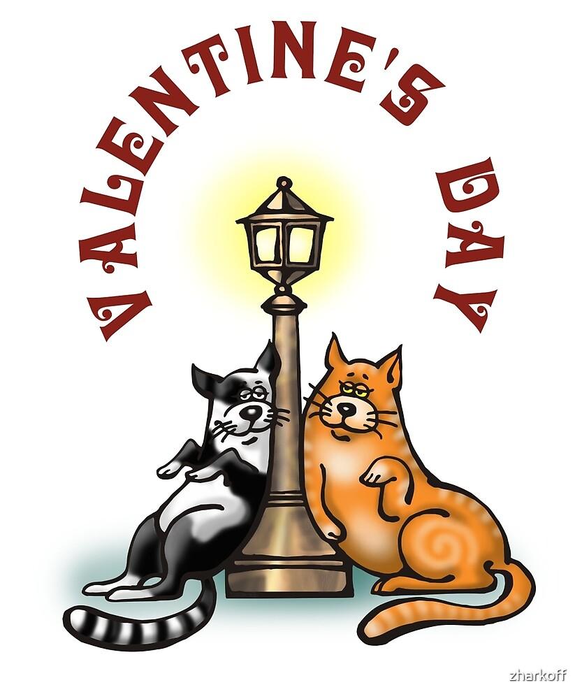 Valentine's Day - Funny Sweet Cats Cartoon by Ekaterina Zharkova