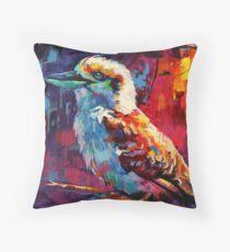 Kookaburra - sits in the old gumtree Throw Pillow