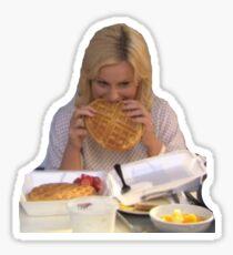 leslie knope waffles Sticker