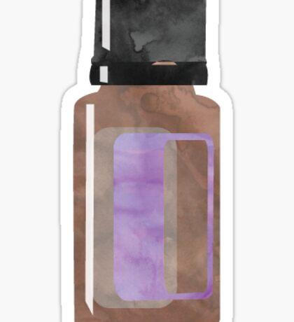 Essential Oil Bottle - Purple Sticker