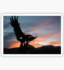 Bald Eagle Statue Sticker
