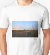 That tree in the distance is where I took the photo of the Sunset Hawks. Folsom, CA Unisex T-Shirt