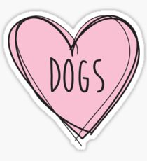Dogs Heart Sticker