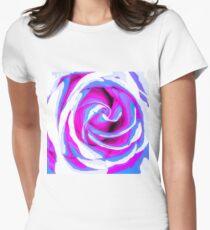 pink and blue closeup rose texture background T-Shirt