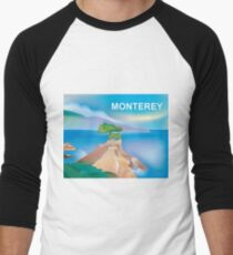 Monterey, California - Skyline Illustration by Loose Petals T-Shirt