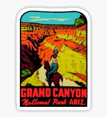Grand Canyon National Park Arizona Vintage Travel Decal 2 Sticker