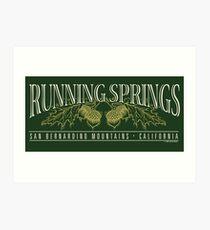 Running Springs Art Print
