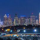 Dallas Skyline West Side View by josephhaubert