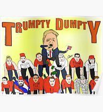 Trumpty Dumpty Design Poster
