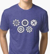 Gears pattern Tri-blend T-Shirt