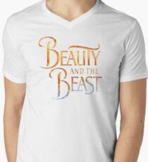 Beauty and the Beast Men's V-Neck T-Shirt
