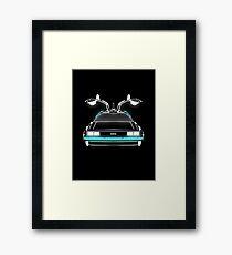 Delorean neon Framed Print