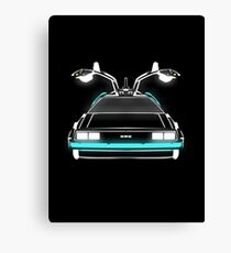Delorean neon Canvas Print