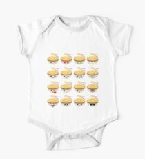 Noodle Emoji Different Facial Expression One Piece - Short Sleeve