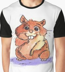 Adorable Hamster Graphic T-Shirt