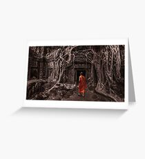 Path to Enlightenment - Ta Prohm Temple Cambodia Greeting Card