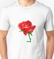 Red rose vector Unisex T-Shirt
