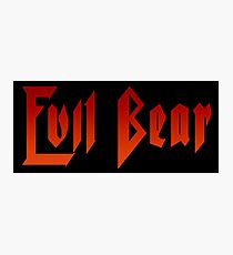 Evil Bear Photographic Print