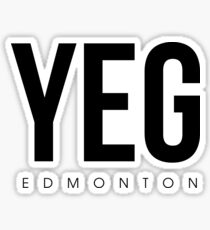 YEG - Edmonton Airport Code Sticker