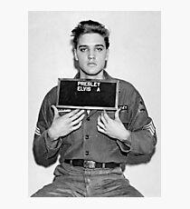 Elvis Mugshot Photographic Print