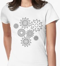 Gears pattern Womens Fitted T-Shirt