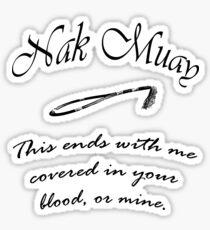 Nak MuayM Sticker