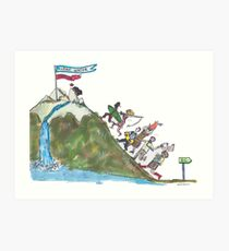 Clean Water Justice is worth the climb Art Print