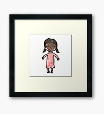 cartoon girl Framed Print