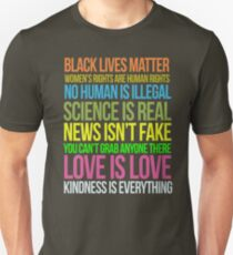 Kindness Is Everything Black Lives Love Is Love Anti Trump T-Shirt