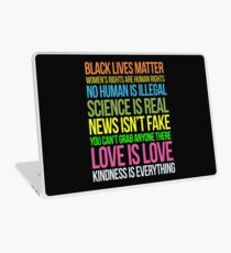 Kindness Is Everything Black Lives Love Is Love Anti Trump Laptop Skin