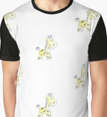 colorful sketch of giraffe on white background Graphic T-Shirt