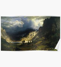 Albert Bierstadt - A Storm In The Rocky Mountains Mt Rosalie Poster