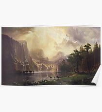 Albert Bierstadt - Among The Sierra Nevada Mountains Poster