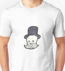 cartoon skull with mustache Unisex T-Shirt