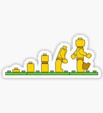 Lego Man Evolution Sticker