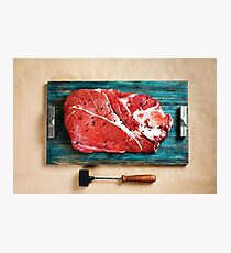 Top view of fresh beef veal meat Photographic Print