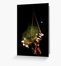 Woman on fire  Greeting Card