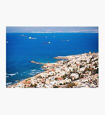 View on Haifa coastline, Israel Photographic Print