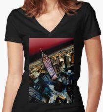 High Rise Women's Fitted V-Neck T-Shirt