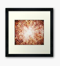 Grapefruit Chaos Framed Print