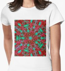 Contemporary Art Design Four Womens Fitted T-Shirt
