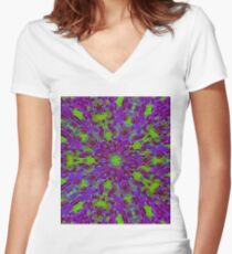 Contemporary Art Design Five Women's Fitted V-Neck T-Shirt
