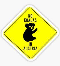 NO KOALAS IN AUSTRIA Sticker