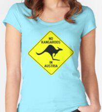 NO KANGAROOS IN AUSTRIA Women's Fitted Scoop T-Shirt