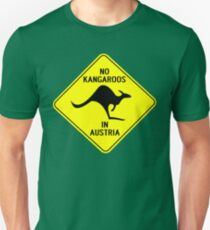 NO KANGAROOS IN AUSTRIA Unisex T-Shirt