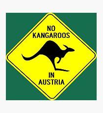 NO KANGAROOS IN AUSTRIA Photographic Print
