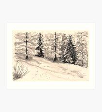 les arcs 1800 snow scene Art Print